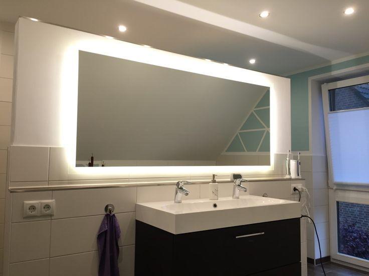 Badspiegel mit Beleuchtung komplettiert unsere Badezimmerplanung - badezimmer spiegel beleuchtung