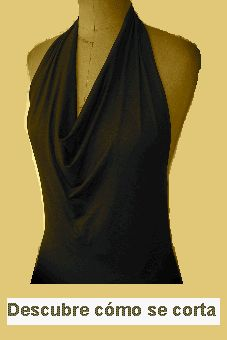 halter top with draped front