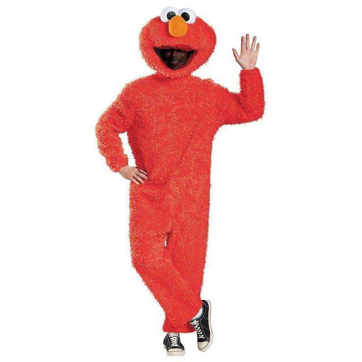 Sesame Street Plush Prestige Elmo Costume - Adult Plus, Size: XL, Multicolor