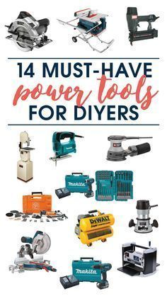 This is AWESOME! A source list of 14 must-have power tools for DIYers by A Crafted Passion. #woodworkingtools
