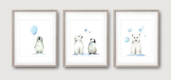 Pingouin pépinière Art, animaux de l