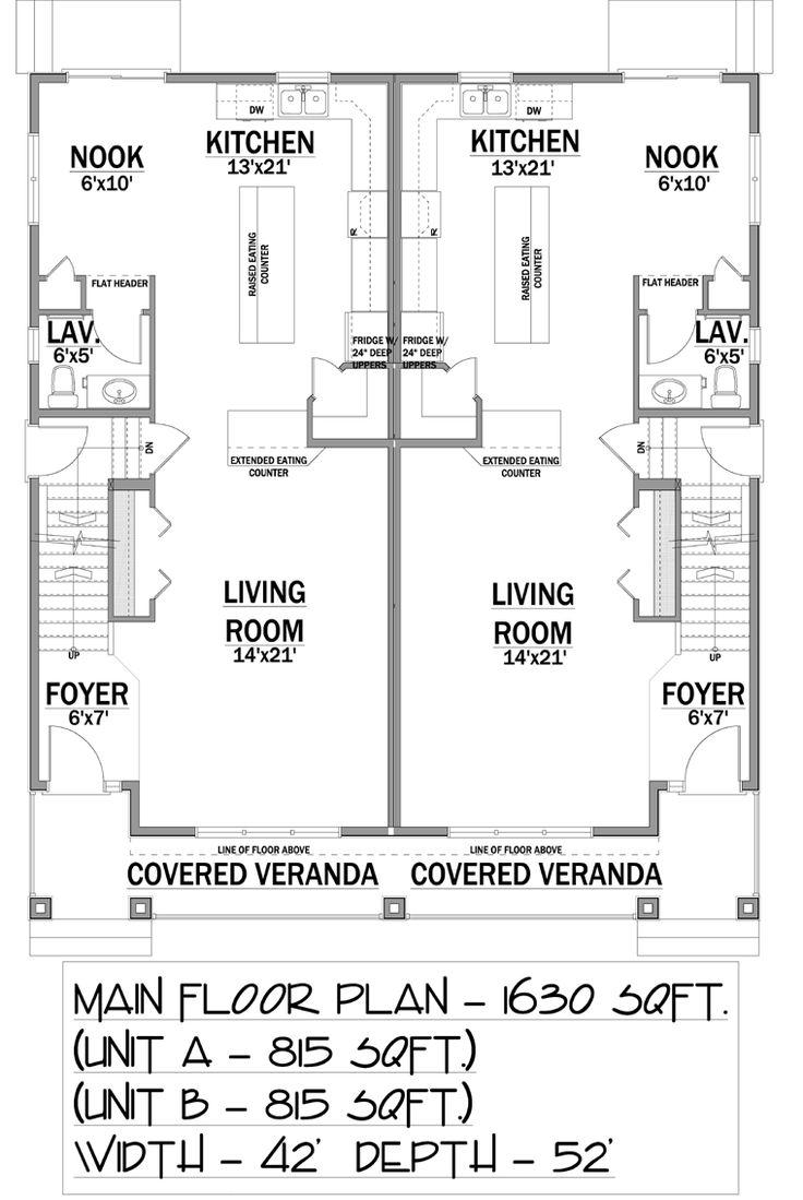 79 best multi family units images on pinterest floor for House plans for extended family