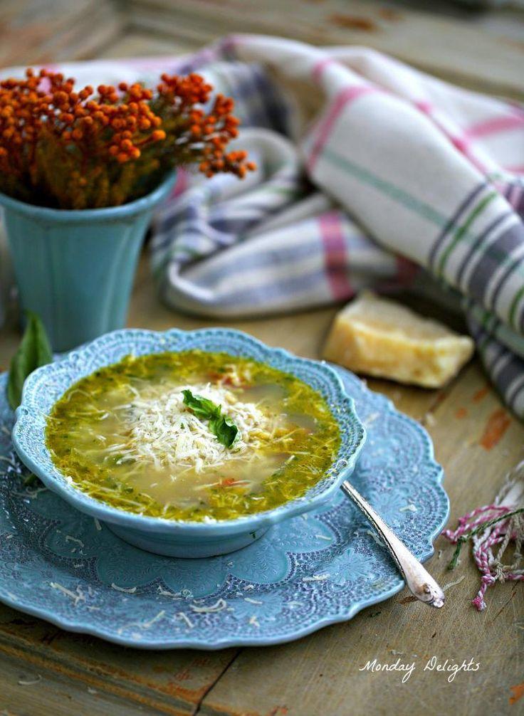 Итальянский суп минестроне с перловкой и зеленым песто » Рецепты » Кулинарный журнал Насти Понедельник. Кулинарные рецепты с фото.