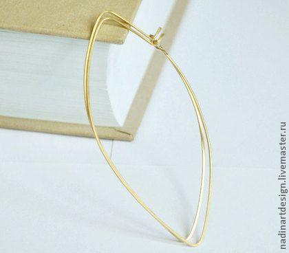 Золотые серьги `Осенние листья`. Очаровательные длинные серёжки.