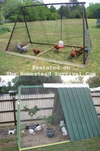 The Homestead Survival | Re Purposed Swing Set Chicken Coop DIY Project | Homesteading & Chickens