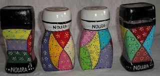 Inarte: Garrafas,frascos,tinta casca de pistaches,(reciclagem) aplicativos Por Ina Alencar