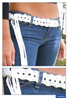 Cinturón tejido a crochet con patrón