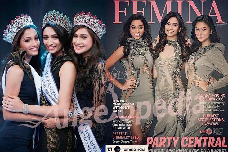 Srinidhi Shetty appears on Femina along with Miss Diva runners up