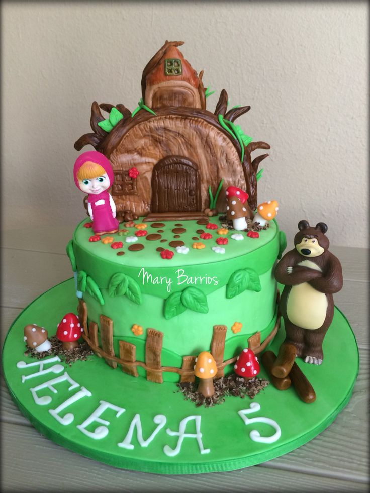 Masha and the bear cake love it
