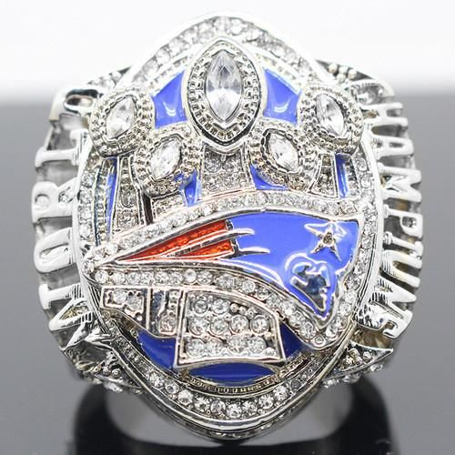 2016 New England Patriots Super Bowl 51 Championship Ring 18K White Gold Plated