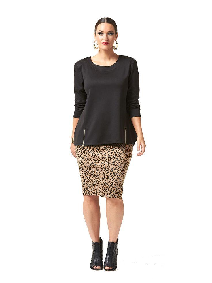 Fashionista Leopard Skirt