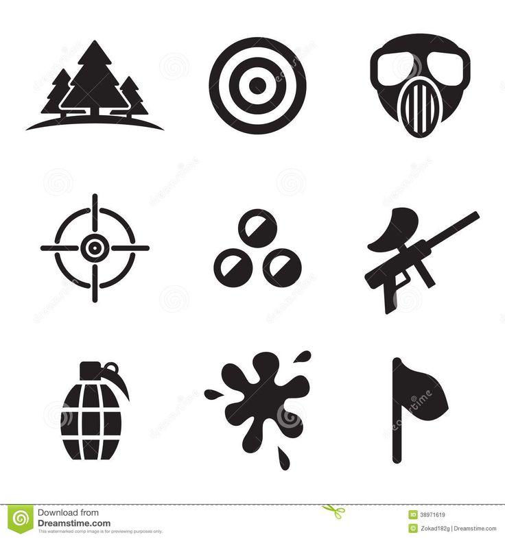 Sport For > Paintball Logo Vector