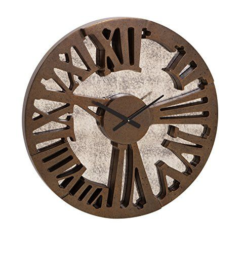 Prime Décor Collection Beth Kushnick Antique Mirror Wall Clock 32.5 inch d x 3 inch