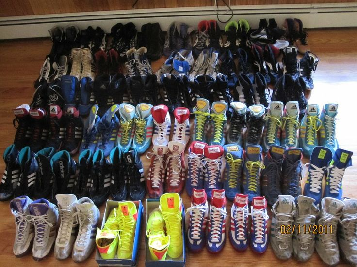 Boots160: Awesome Wrestling Shoe Collection - for sale!