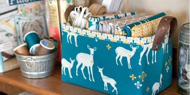 Make it With or Without the Thrift-Shop Belt Handle! It's a good thing this is a quick project because you're sure to find a lot of uses for this wonderful fabric basket. Make several for your sewing room and for use elsewhere in the house. You can stiffen your baskets with Peltex or use fusible …