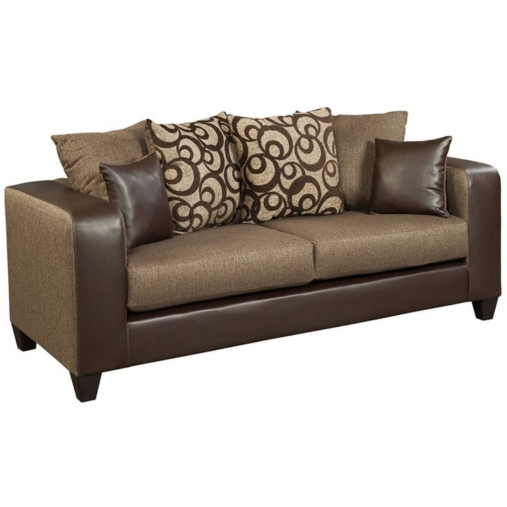Riverstone Object Espresso Chenille Sofa  Riverstone Object Espresso  Chenilleu2026 Leather Sectional ...