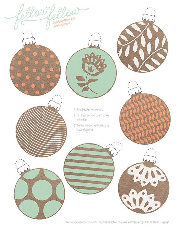 {Freebie} Bauble Tags