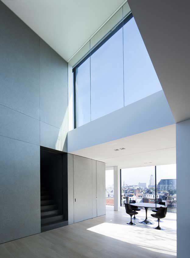 minimalistisches appartement schwarzes bad design