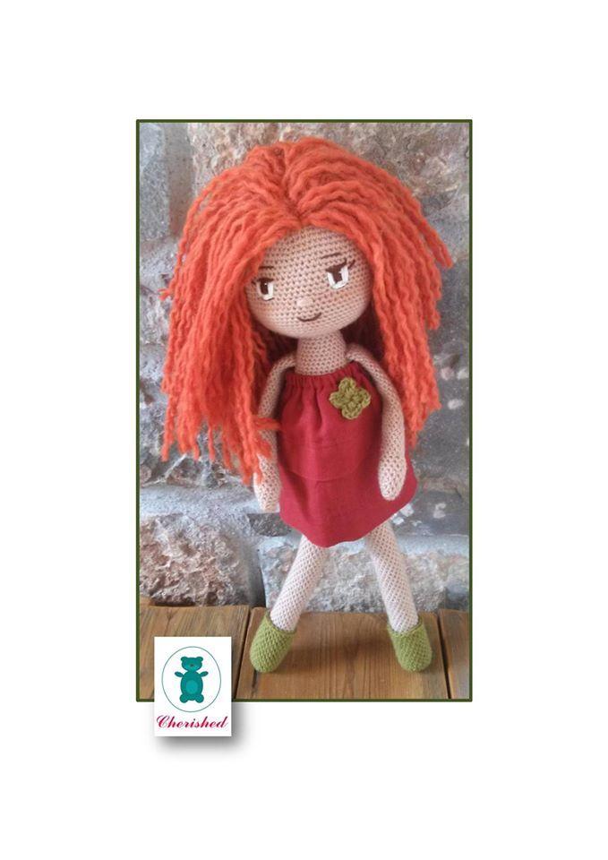 My beautifull crochet doll. 43cm