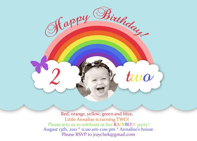 96 best Rainbow Birthday Party images – Rainbow Themed Birthday Invitations