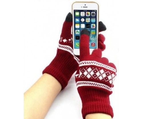 Kapacitív érintő képernyős mintás tapikesztyű, hogy télen is használhasd mobilodat kesztyűvel
