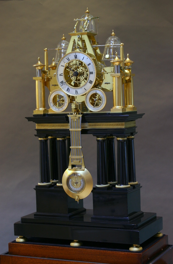 Rare French Astronomical Skeleton Clock by Constantin Detouche, circa 1842. | Exhibitor: Sundial NYC