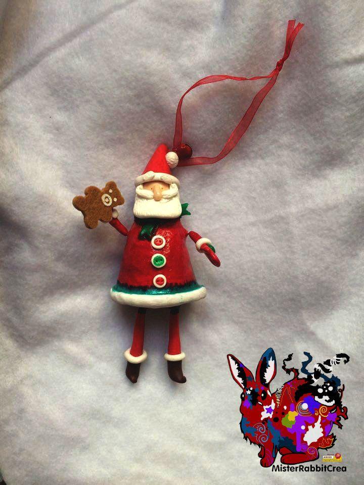 Père Noël décoration de sapin de la boutique MisterRabbitcrea sur Etsy