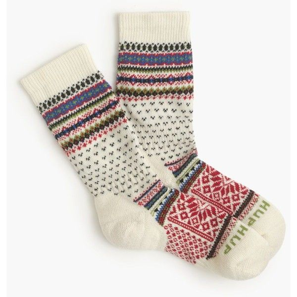 Chup For J.Crew Smartwool Socks ($43) ❤ liked on Polyvore featuring intimates, hosiery, socks, wicking socks, moisture wicking socks, wool socks, woolen socks and star socks