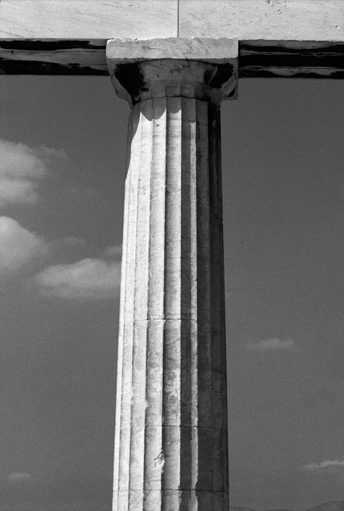 Doric column detail from the Parthenon. (Doric is much lovelier than its pretentious cousin, Corinthian.)