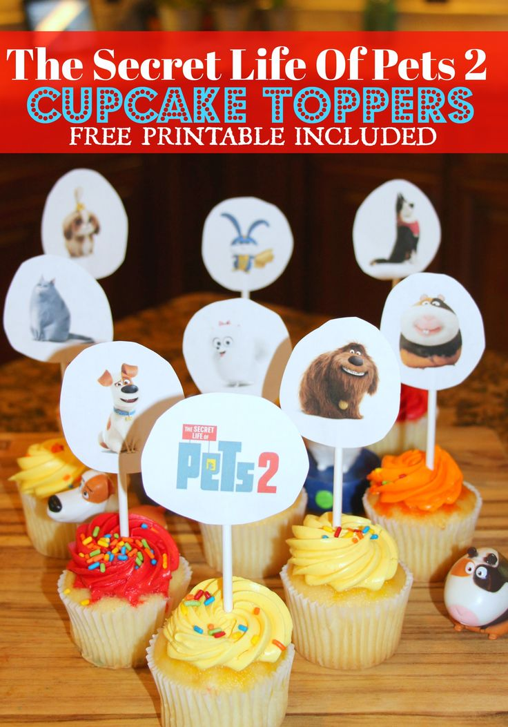 The Secret Life Of Pets 2 Cupcake Toppers (FREE PRINTABLE INCLUDED) – Miss Fru… – DIY & Crafts
