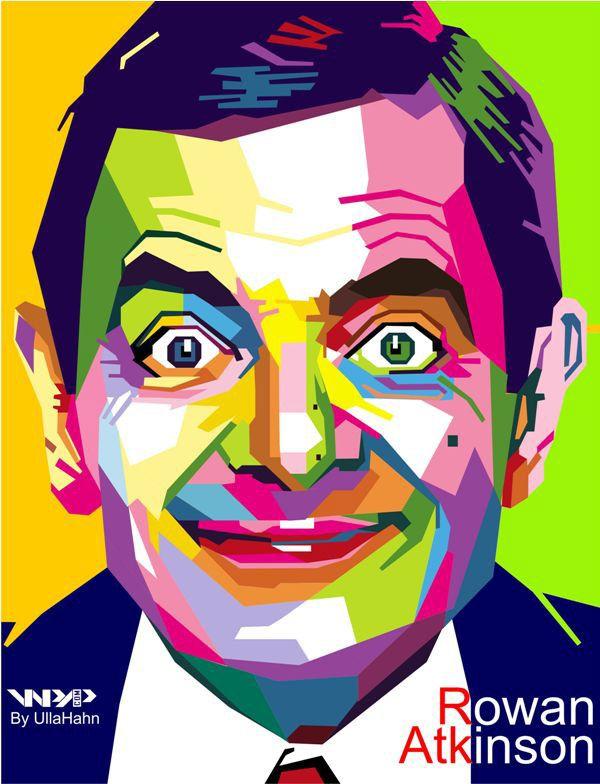 Rowan Atkinson In WPAP by ullahahn #illustration #design
