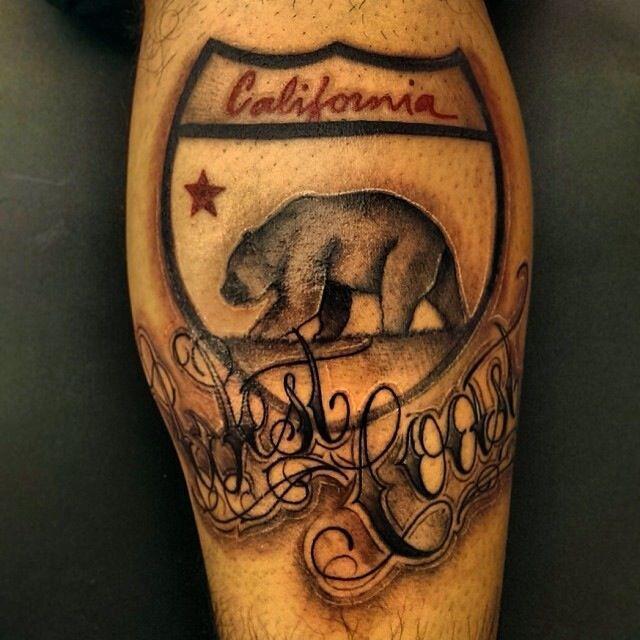 california bear tattoo | Tattoos | Pinterest