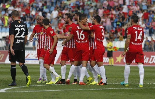 El Almería sale de los puestos de descenso despues de cinco jornadas gracias a la victoria por 3 goles a 0 frente al Gimnàstic de Tarragona. @Almeria #9ine