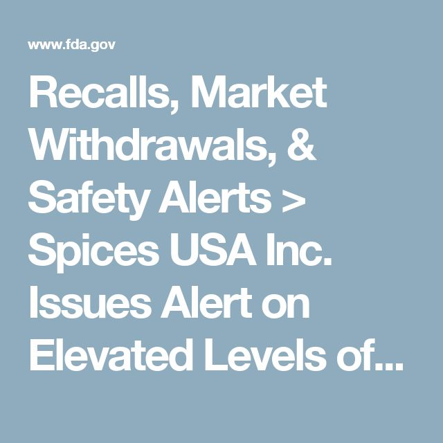 Recalls, Market Withdrawals, & Safety Alerts > Spices USA Inc. Issues Alert on Elevated Levels of Lead in Ground Turmeric