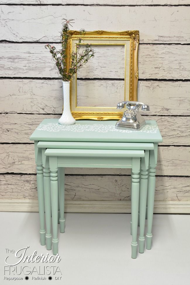 Turned Leg Nesting Tables | The Interior Frugalista