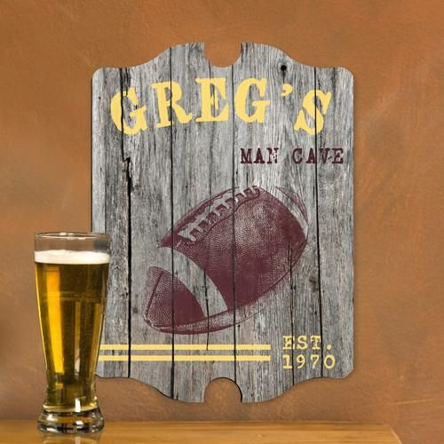 Vintage Sports Man Cave Pub and Tavern Signs - FOOTBALL