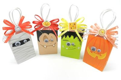Halloween Treat Bags & bows- super easy DIY
