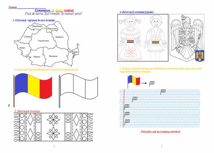 Materiale didactice de 10(zece): Fișă de lucru - Ești român! Îți cunoști țara? - cl...
