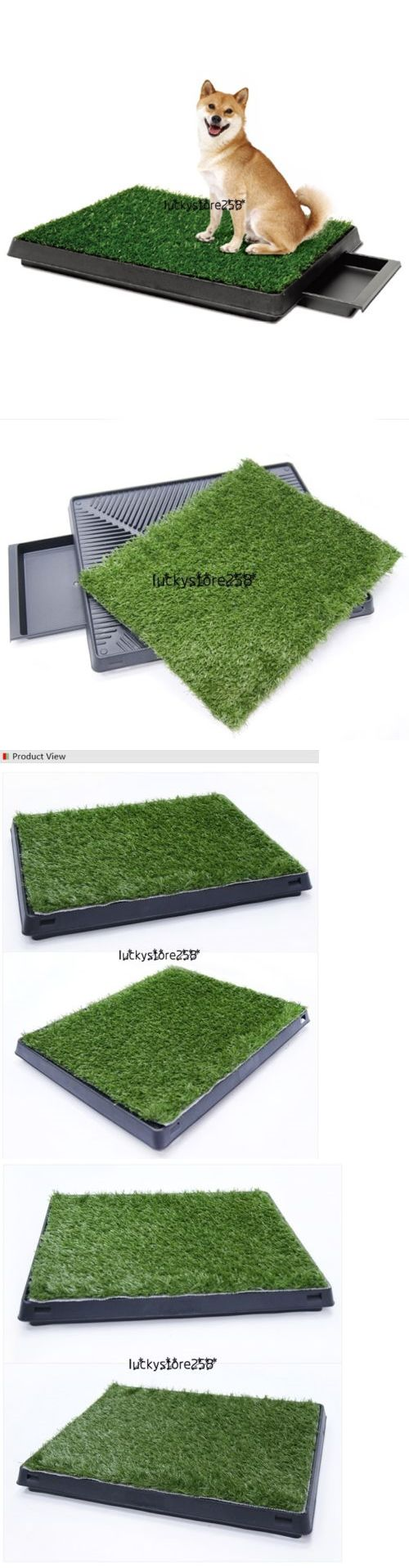 House Training Pads 146243: Puppy Potty Trainer Indoor For Pets Dog Training Pee Turf Grass Pad Mat Lkr8 BUY IT NOW ONLY: $30.26