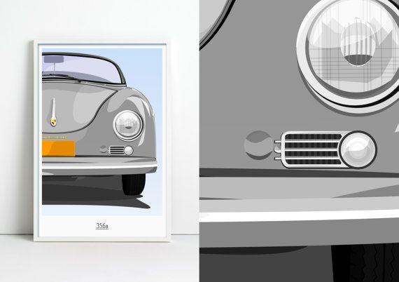 Porsche 356a Graphic by jpappleton on Etsy