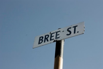 Bree Street Road Sign, Cape Town Location.
