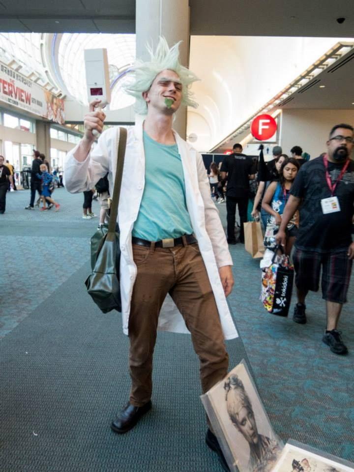 Rick cosplay rick and morty