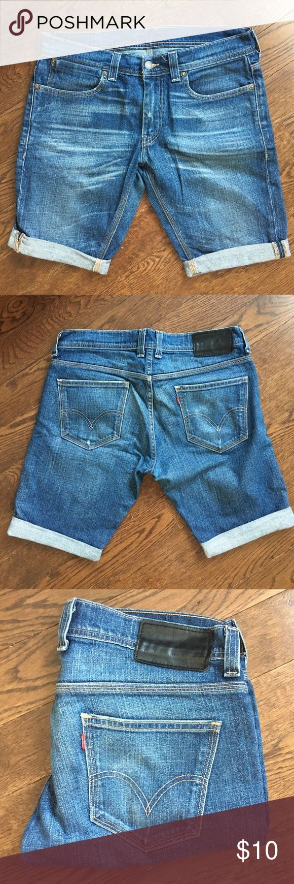 Levi's 511 slim cut off shorts Levis 511 shorts in Great condition. Slim fit, can roll down cuffs to make them a bit longer. Levi's Shorts Jean Shorts