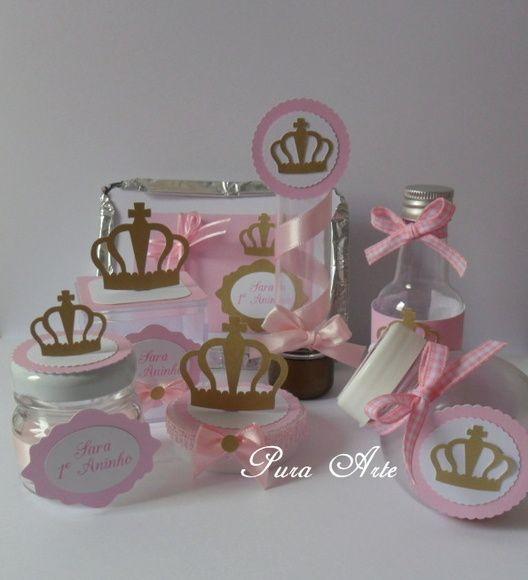 Kit Scrap Festa Princesa Rosa/dourado                                                                                                                                                      Más