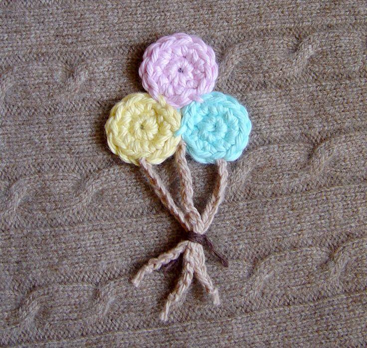 Crochet Applique Balloons by *meekssandygirl on deviantART