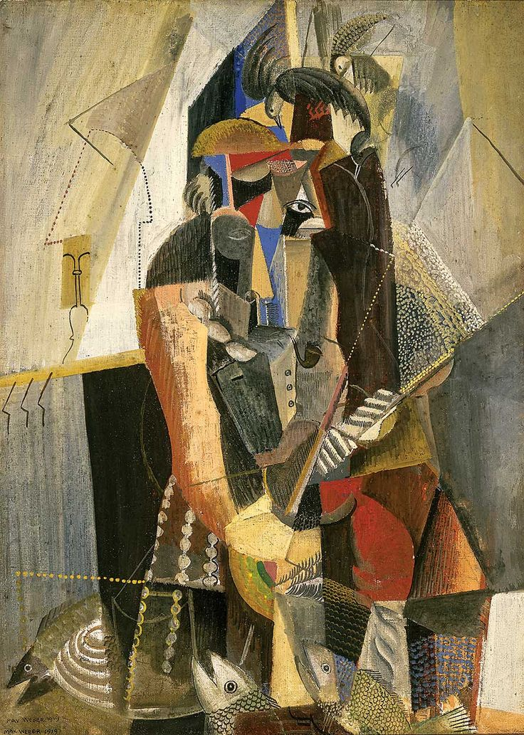 The Fisherman (1919) Max Weber (1881 - 1961) was among the first artists to carry the modernist revolution to the United States and one of the first American Cubist artist.