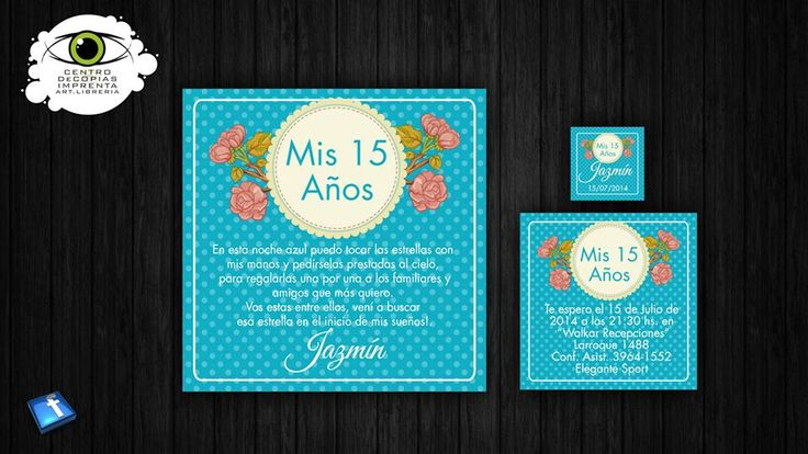 Invitaciones de 15 años modernas  #15Años #Invitaciones #2016 #fiesta #party #cumpleaños #Moderna #cononda #Mis15 #personalizada #novedad #vintage #flores #retro