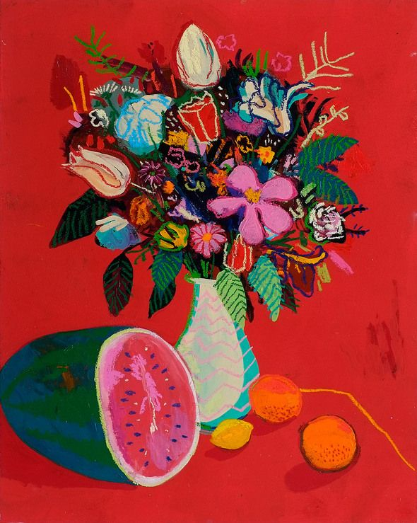 Andy Dixon, Still Life with Watermelon, 2013