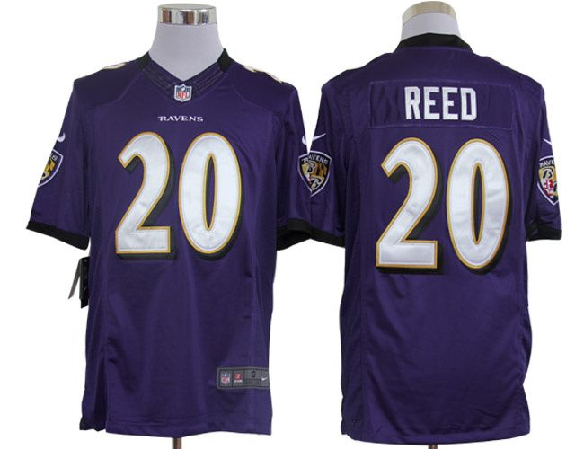 b5b239237 ... White,wholesale nfl nike jerseys from China , Baltimore Ravens 20 Ed  Reed Purple Limited Jersey ...