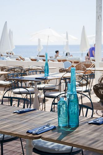 Experimental Beach Ibiza, Ibiza beach restaurant - White Ibiza. a bit pricy but really nice views and a luxury feel